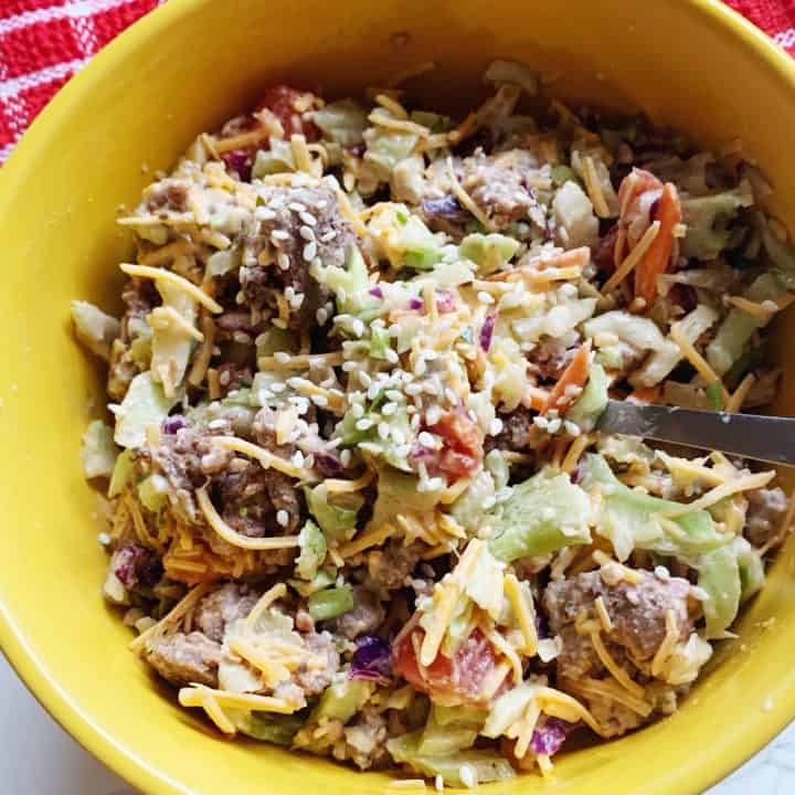 Big Mac Salad - Keto / Low Carb