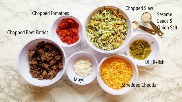 ingredients big mac salad