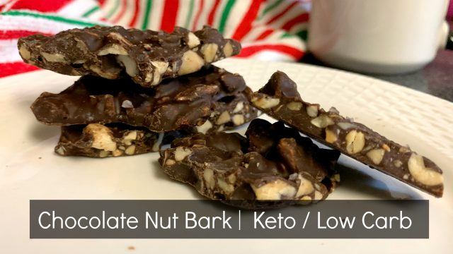 chocolate nut bark keto low carb