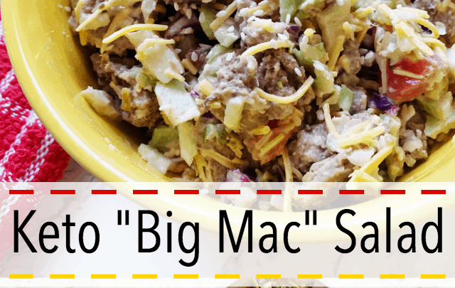 big mac salad keto low carb
