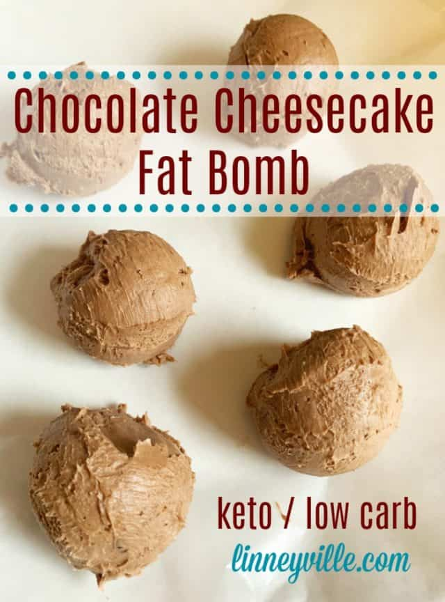 chocolate cheesecake fat bomb