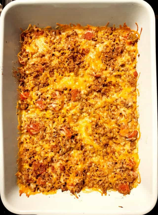 baked taco casserole beef cheese