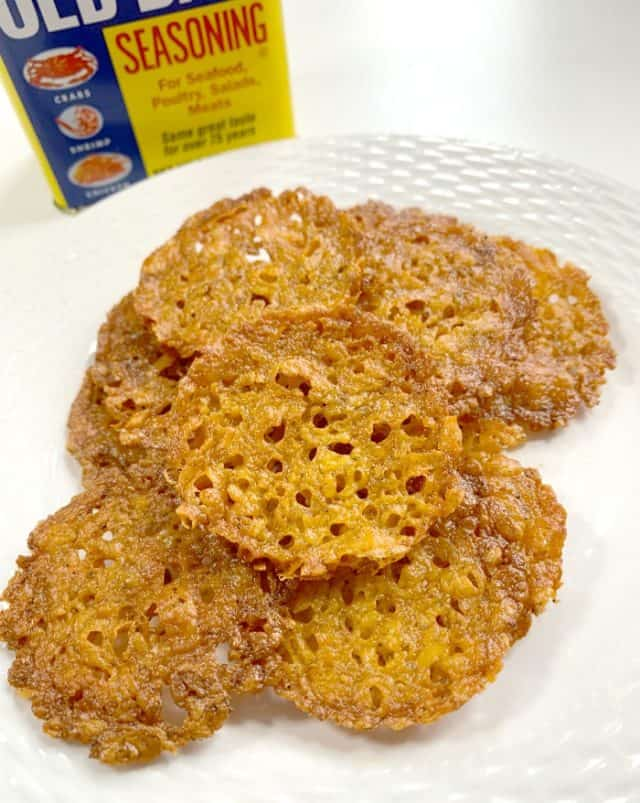 old bay cheese baked crisps