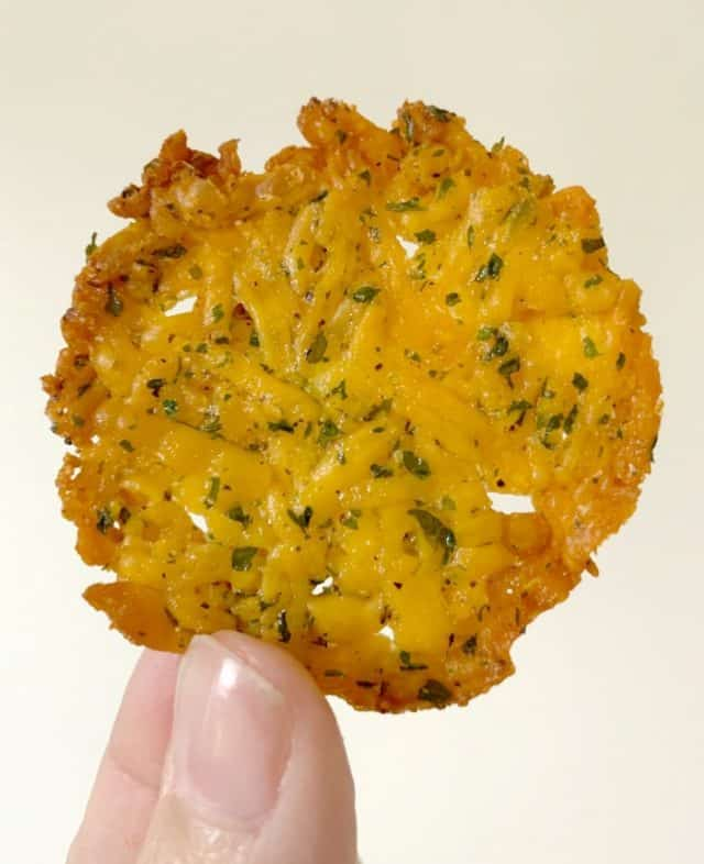 ranch flavored cheese crisp keto
