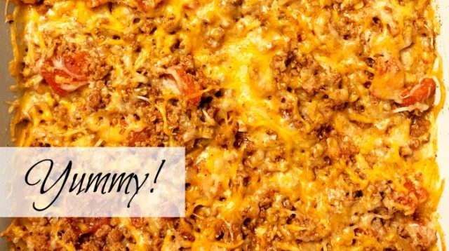 taco casserole beef cheese yummy