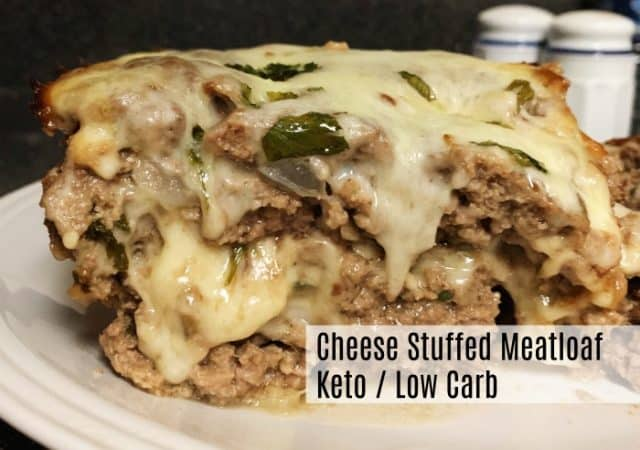 cheese stuffed meatloaf low carb keto