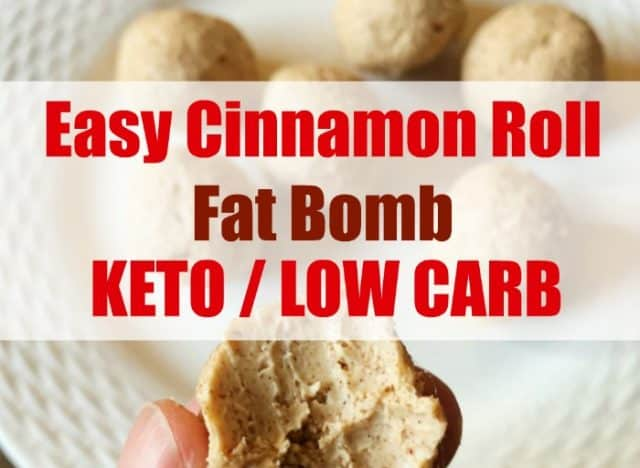cinnamon roll fat bomb keto
