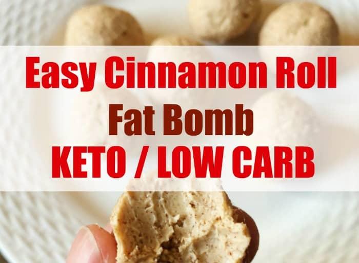 Easy Cinnamon Roll Fat Bombs – Keto / Low Carb