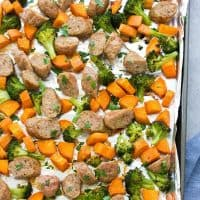 Sheet Pan Sausage and Roasted Veggies (Plus Meal Prep Option)