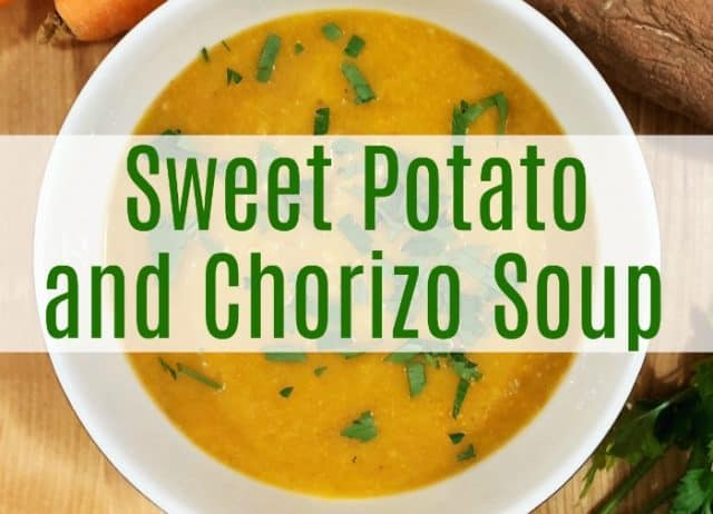 sweet potato chorizo soup bowl