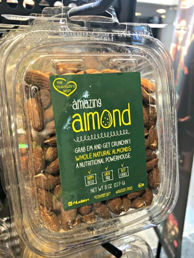 box of almonds
