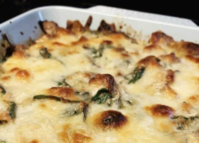 spinach sausage casserole