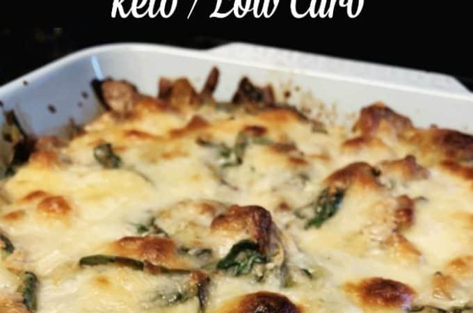 sausage spinach casserole pin 2