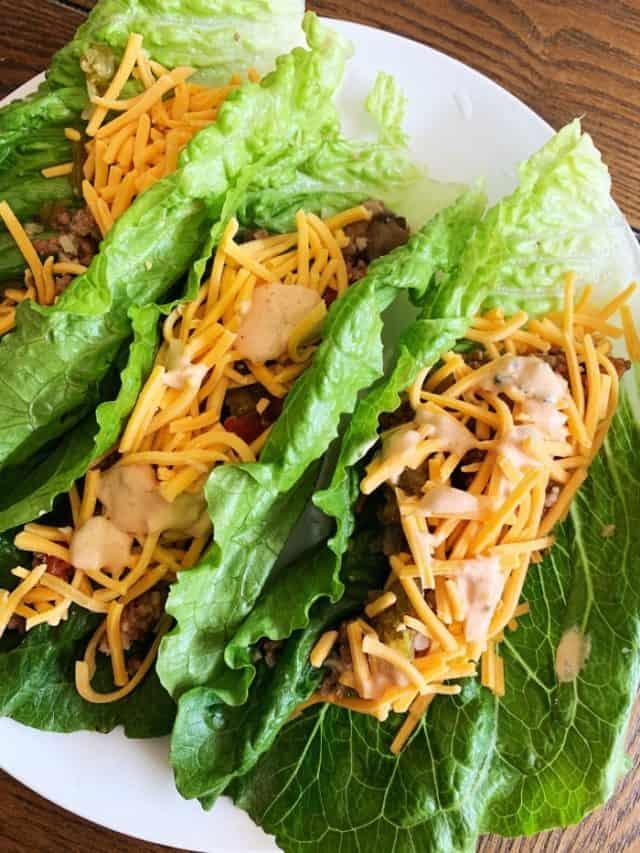 big mac keto lettuce wraps