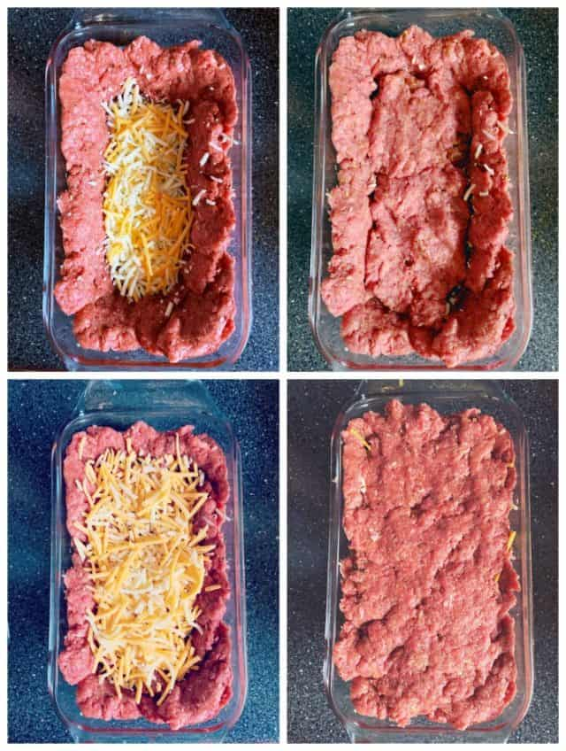 layer cheese and meat
