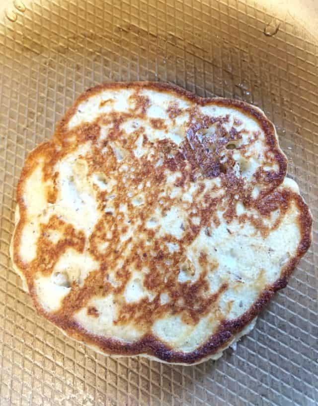 low carb pancake in pan1