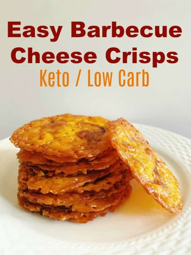 plate of barbecue cheese crisps pin