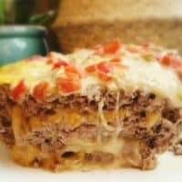 Cheese Stuffed Taco Meatloaf - Keto / Low Carb
