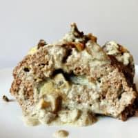 Blue Cheese and Mushroom Stuffed Meatloaf - Keto