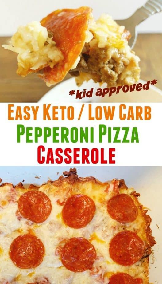 keto pepperoni pizza casserole