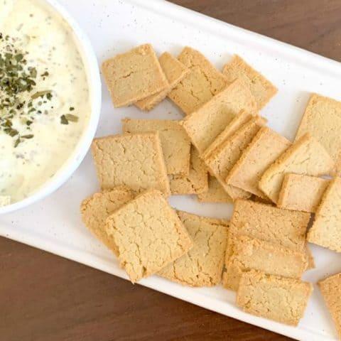 keto almond flour crackers social