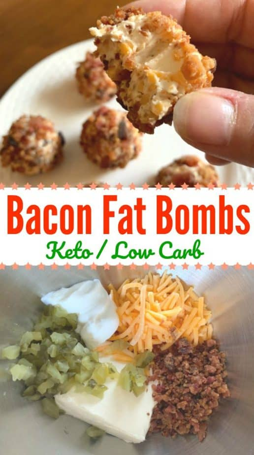 bacon cheese fat bomb pin