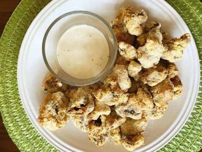 Keto Air Fryer Fried Mushrooms