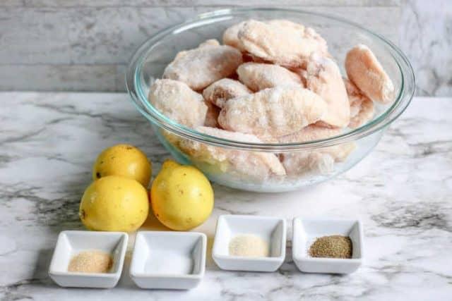 Air Fryer Lemon Pepper Wings ingredients