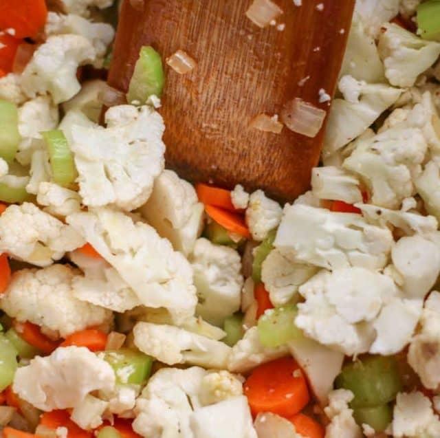 Bacon Cauliflower Chowder ingredients