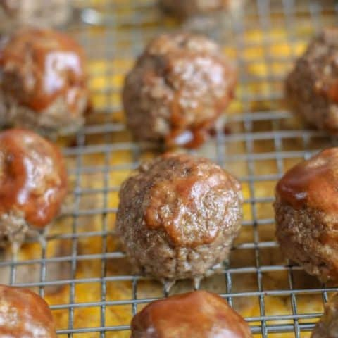 Cheese Stuffed Barbecue Meatballs - Keto