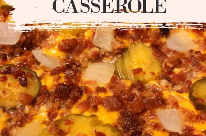 bacon cheeseburger casserole pin