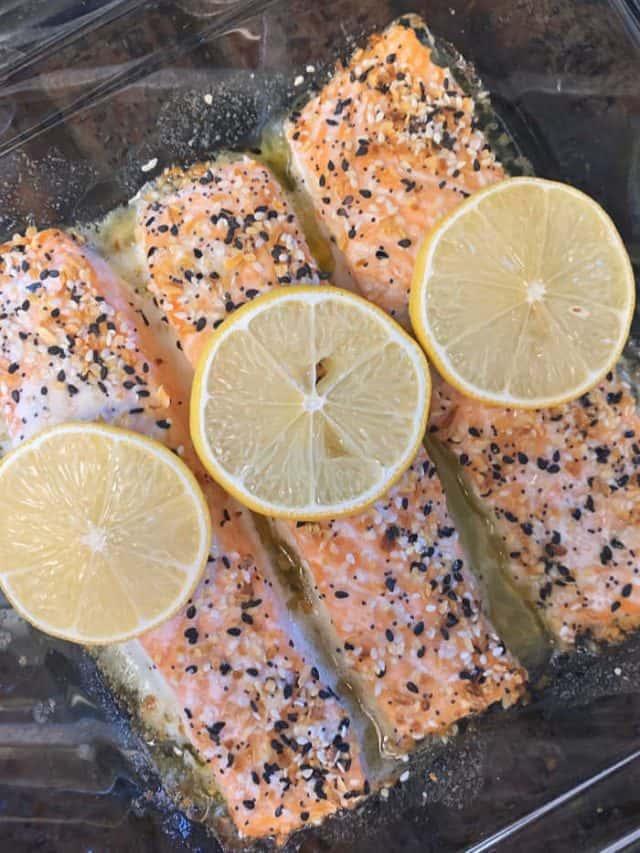 baked keto everything seasoning salmon