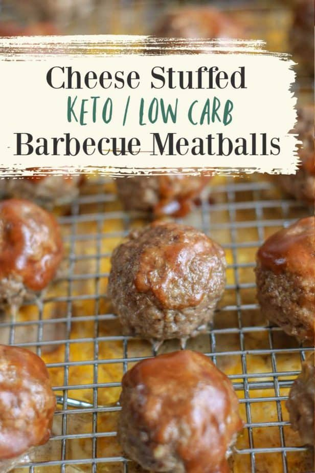 cheese stuffed barbecue meatballs pin