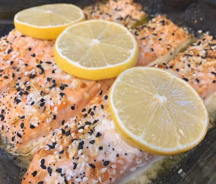 Everything Seasoning Lemon Butter Salmon