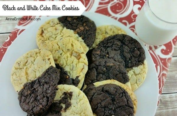 Black and White Cake Mix Cookies Recipe