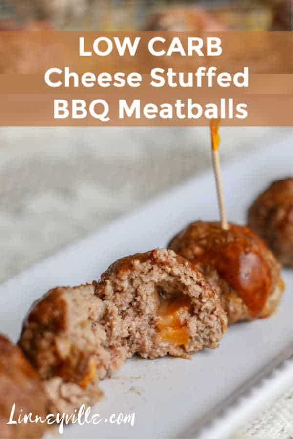 cheese stuffed bbq meatballs pin 2