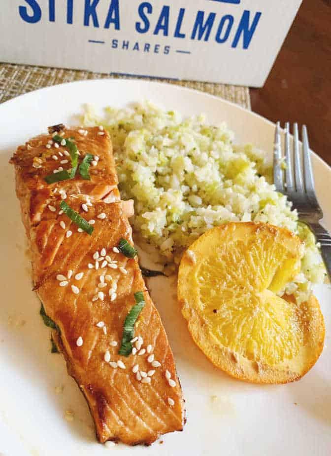 Orange Sesame Ginger Salmon - Keto / Low Carb