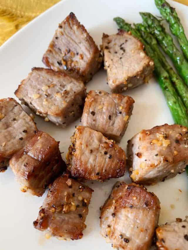 plate of butter steak bites