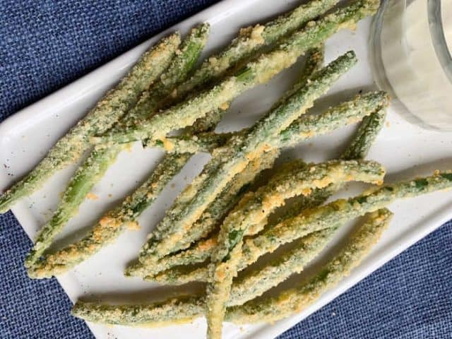 plate of green bean fries