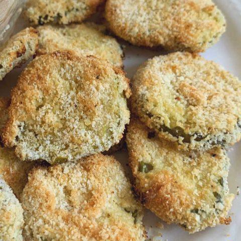 air fryer fried pickle batch