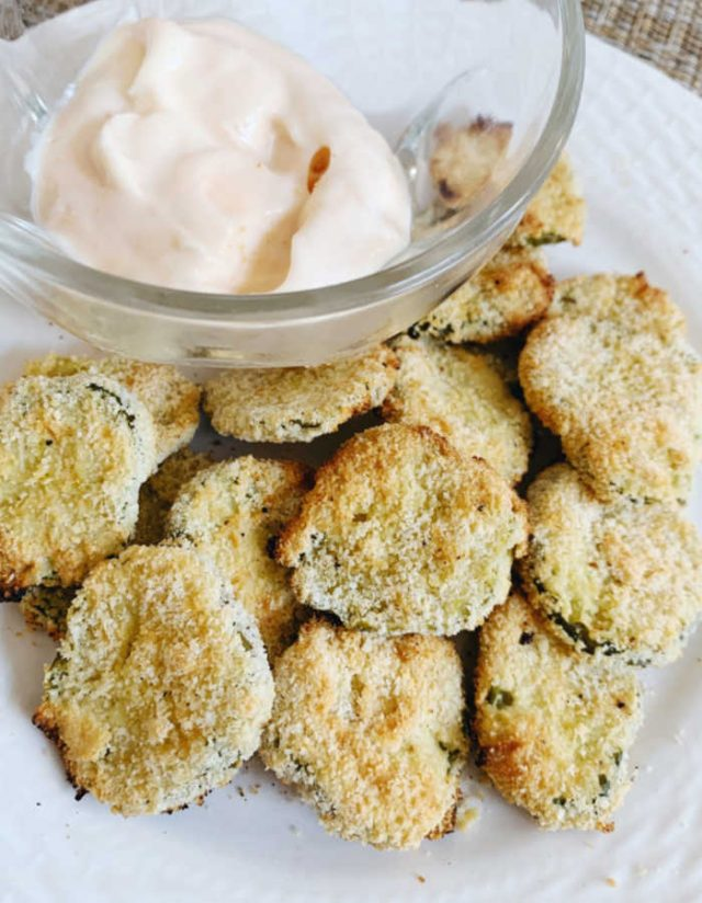 plate of fried pickles